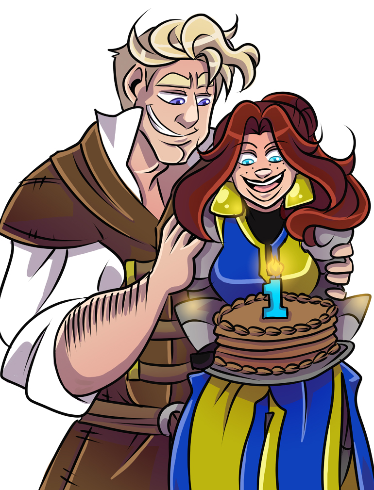 I do hope Lark is looking at that cake and not Hass' tits...