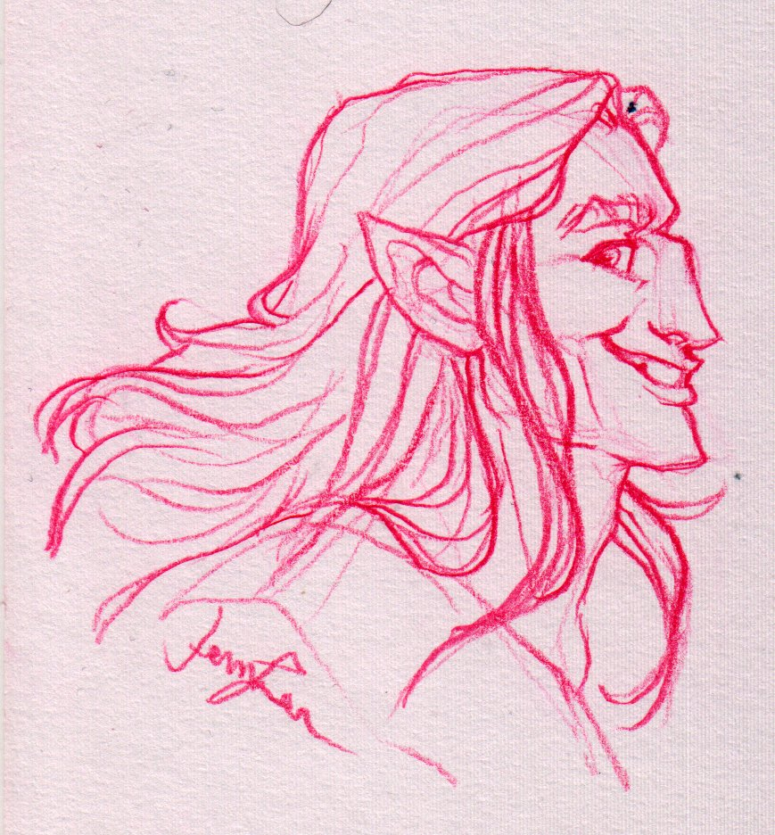 Magnus Sketch by Jenn Lee of <a href='http://risingsand.glass/' target='_blank'>Rising Sand</a>